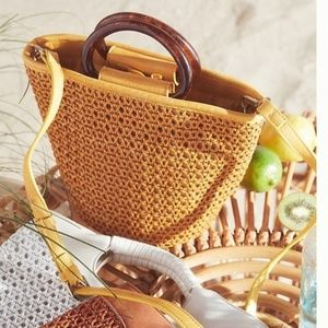 Anthropologie Westlyn Woven Bucket Bag